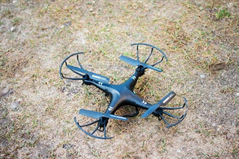 how drones work - drone on grass